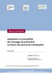 Adaptation et accessibilité des messages de prévention en faveur des personnes handicapées. Revue de la littérature
