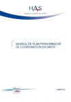 Modèle de plan personnalisé de coordination en santé : outil d'amélioration des pratiques professionnelles