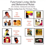 Functional living skills and behavioral rules (for children, adolescents and adults) : photo collection for Picture this...