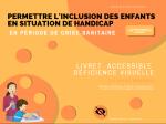 Permettre l'inclusion des enfants en situation de handicap : livret accessible déficience visuelle