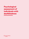 Psychological assessment of individuals with deafblindness